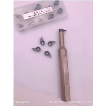 Einstechen von Hartmetall-Wendeschneidplatten