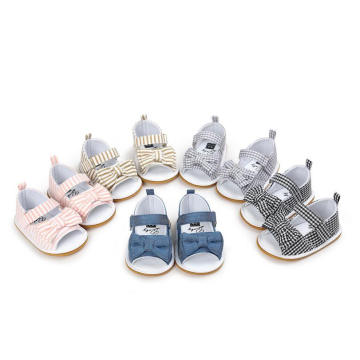 Sapatos de Bebê Sandálias Bowknot Mocassins Infantis de Sola Macia Infantil