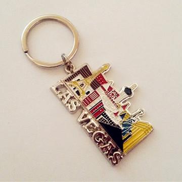 Las Vegas Souvenir Geschenk Metall Custom Schlüsselbund mit Farbe (F1421)