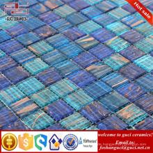 China liefern heiße Verkaufsprodukte blaue gemischte Heiß - schmelzen Sie Swimmingpoolmosaikfliese
