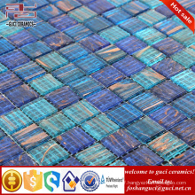 China supply hot sale products blue mixed Hot - melt swimming pool mosaic tile