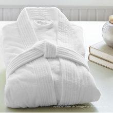 5 Sterne Hotel Hochwertiger Baumwoll-Weiß-Samt Bademantel