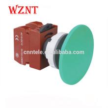 Interrupteur à bouton-poussoir lumineux bicolore double en métal de type tête convexe de 30 mm