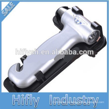 HF-838 Martillo de seguridad para el automóvil Martillo de seguridad para el escape del automóvil Martillo de seguridad multifunción para el cinturón de seguridad (Certificado CE)
