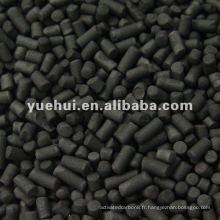 Charbon actif cylindrique à base de charbon de 4,0 mm pour récupération de solvant ZH40