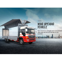 Veículo de abertura de asa de caminhão de transporte seguro