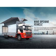 Zwei Achsen-Flügel, der LKW-Kasten-Körper-Fahrzeug öffnet