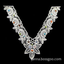 Venice Collar, Made of Polyester, Decorated with Color Bead, Fashionable Design