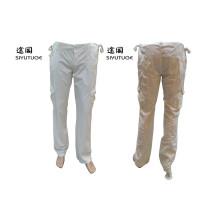 Men Fashion Cargo Cotton Long White Pants