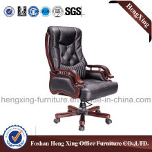 Wooden High Back Leather Executive Boss Office Chair (HX-CR020)