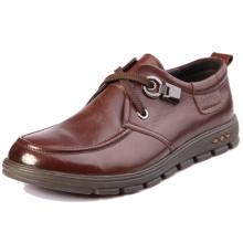 Novo modelo top marca mens couro genuíno moda alta classe formal europeu estilo projeto barato sapatos casuais imagens