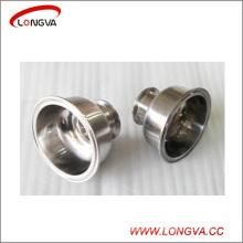 Raccords concentriques de tuyau de réducteur de chapeau de cuvette d'acier inoxydable sanitaire Tri
