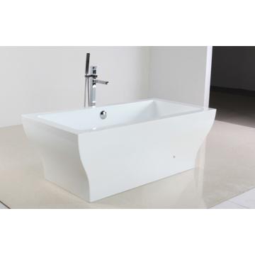Bañera de hidromasaje de acrílico blanco en el tipo de Freestandy