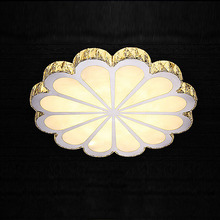 Crystal led ceiling light fixture