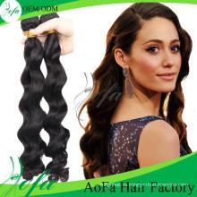 2016 Aofa Части Волос 100% Индийский Реми Вьющиеся Человеческих Волос