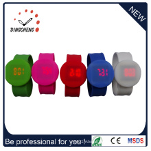 2015 New Style Wristband Round Slap LED Watch (DC-1060)