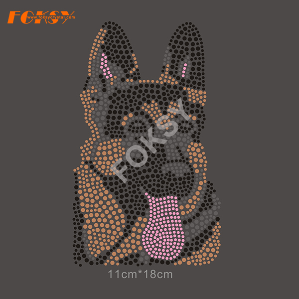 Funny Puppy Dog Animals Hot Fix motif de strass