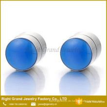 7mm Magnetic Blue Epoxy Kreis nicht durchdringende Clip auf gefälschte Ohrstöpsel Messgeräte