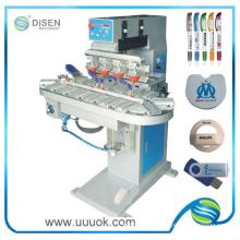 Impresora del cojín de cuatro colores transportador