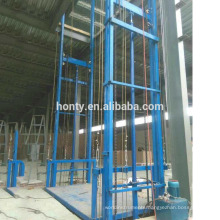 Customized 2-20m goods lift hydraulic guide rail cargo lift used for warehouse