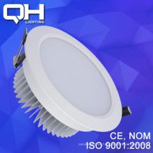LED abajo luz SMD 12 vatios aluminio blanco cálido