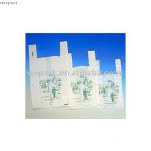 Manufacturer!Biodegradable T-shrit plastic bag