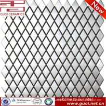 Paralelo al cuadrado mosaico de acero inoxidable para diseño de pared