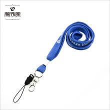 Llavero de cordón de alta calidad con impresión personalizada en blanco