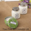 High Quality Decorative Glass Soy Candle with Scent