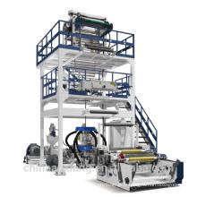 Machine de film soufflé mono / monocouche à sortie élevée pour film de sac poubelle