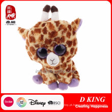 Big Eyes Plush Giraffe Stuffed Animal De Brinquedo