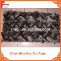 010 Silver Blue Fox Plate Fox Fur Plate