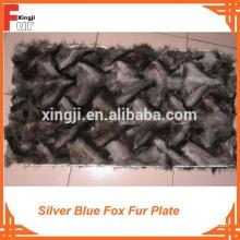 Plaque en fourrure de renard bleu argenté 010