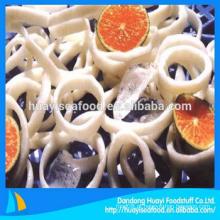 Novo congelado novo calamar anel de frutos do mar frescos