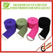 Courroies de courroie de yoga de coton non-toxique d'équipement de forme physique