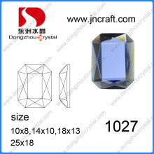 Dz-1027 Machine Cut Mirror Octagon Glass Beads for Garment