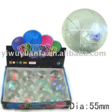 55mm High Glitter Led Bouncy Rubber Water Ball