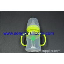 150ml Green Food Grade Silicone Baby Feeding Bottle With Nipple