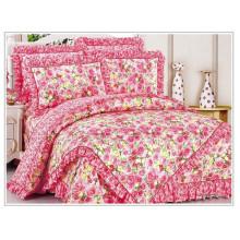 100% Baumwolle niedlichen Blumen Duvet Abdeckung Satz Blumen koreanischen Stil Bettwäsche gesetzt comforter gesetzt