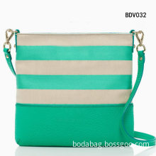 Fashion Lady Handbag Canvas and PU Leather Bag (BD013)
