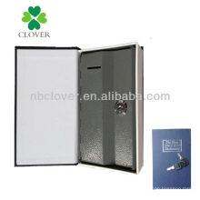 Forma de libro metal moneda banco