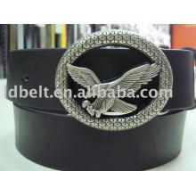 Mode schwarz mit Adlerschnalle Leder Gürtel