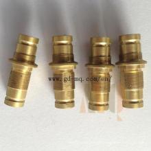 Pieza de torneado del torno del CNC de cobre amarillo (MQ1033)