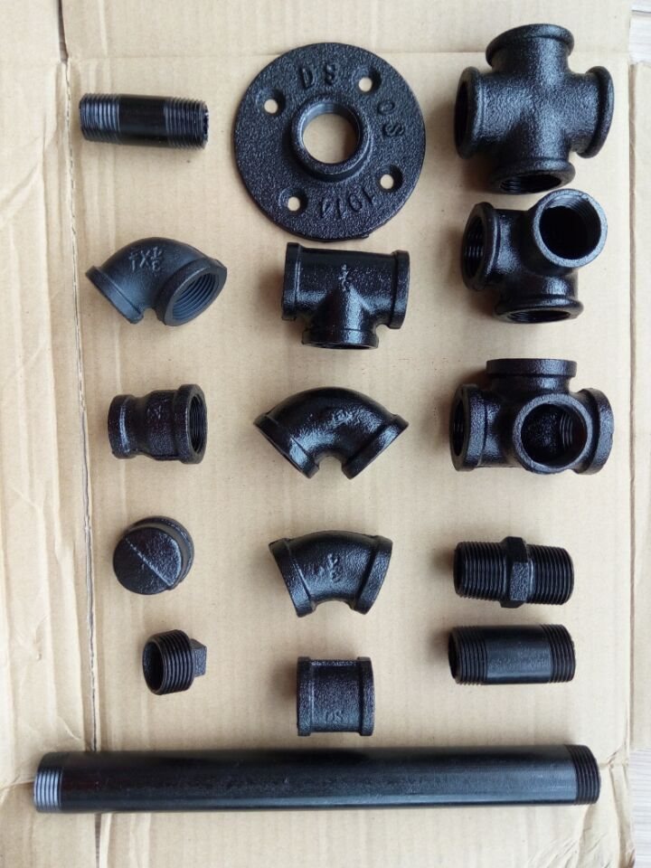 back metal pipe fitting