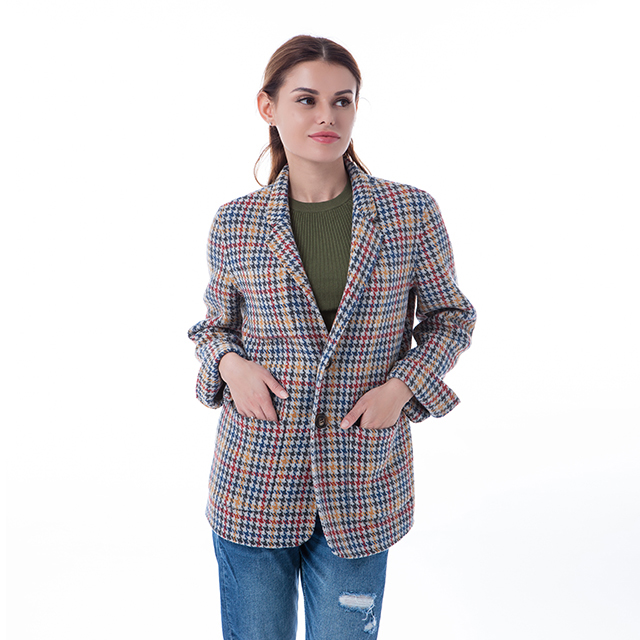 Thousand Birds Chequered Cashmere Overcoat