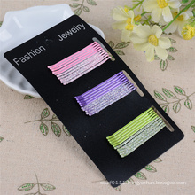 30 Pieces Card Packed 5cm Glittery Metal Hair Pins (JE1028)