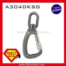 A304DKSG Aluminum Swivel 25kN Load Indicator Snap Screw Lock Hook