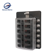 New product waterproof 12 Way Circuit with LED Indicator Cover for Car Marine Car Fuse Blocks Holder 32V DC Fuse Box