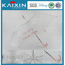 Hochwertiger Wind-Proof Transparenter Poe Regenschirm
