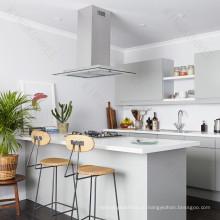 Простой Дизайн Кухни Дома Столешницей И Бар Счетчик